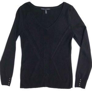 White House Black Market V Neck Knit Sweater